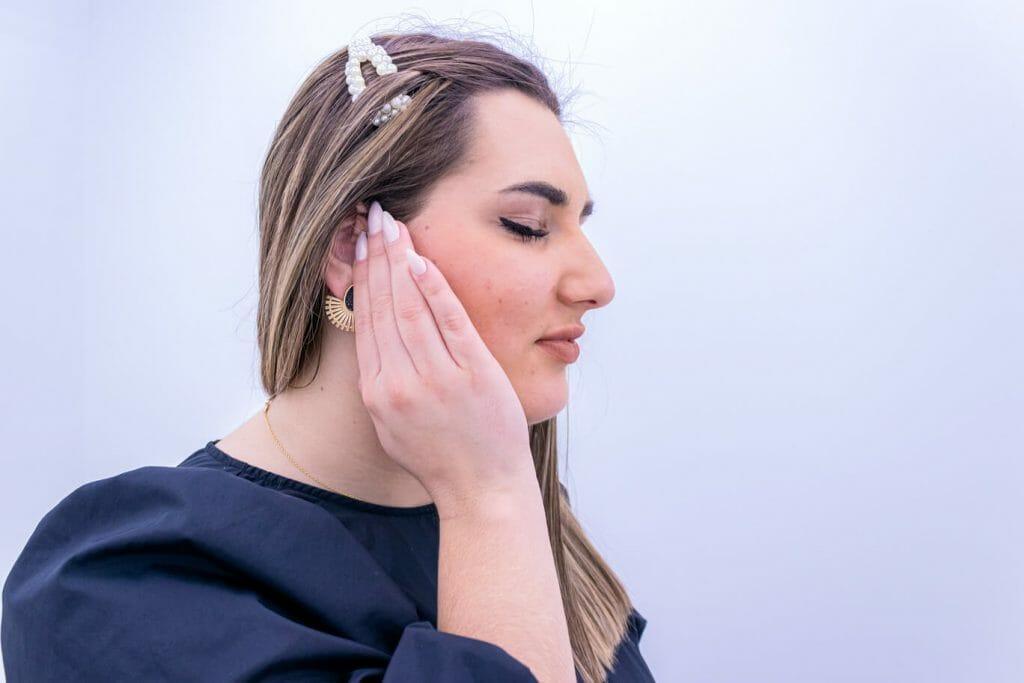 imagem de paciente com dor na mandíbula