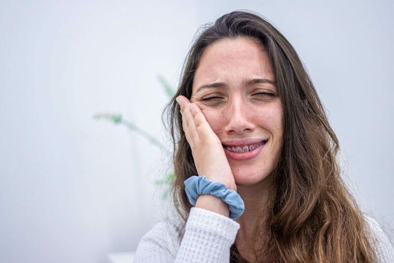 imagem de paciente com dor de dentes