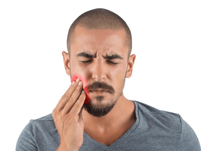 imagem de paciente com pulpite (dente infflamado)